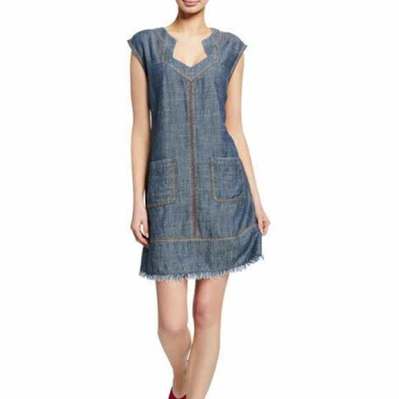 Trina Turk Dresses & Skirts - Trina Turk Mini Chambray Shirt Dress X-Small Waiki